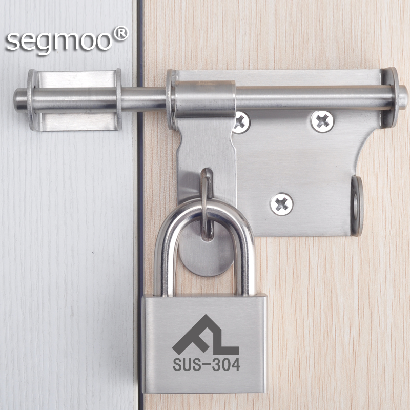 segmoo加厚不锈钢锁扣安全扣锁头门扣门栓大门插销防盗锁挂锁门销