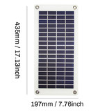 Solar charging mobile power charger 12V car battery 18V 10.5W semi-flexible board with alligator clip