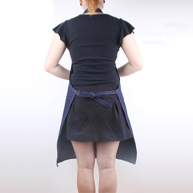 加厚牛仔布围裙木工服装劳保焊工作服厨房家务搬运成人罩衣防护服