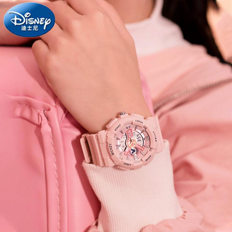 迪士尼学生手表女款初高中小学独角兽联名运动机械女孩儿童电子表