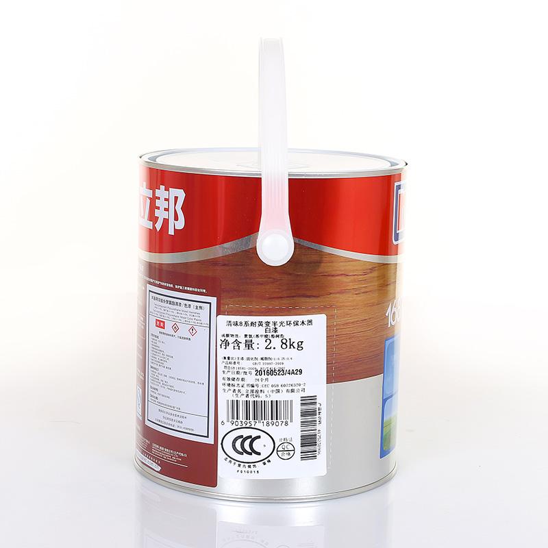 系金装耐黄变开放白漆耐磨抗划高遮盖 8 清味蓖麻油 1687 立邦木器漆