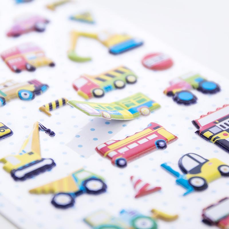 可爱幼儿园奖励贴画儿童卡通动漫3D立体泡泡贴纸不干胶粘纸批發
