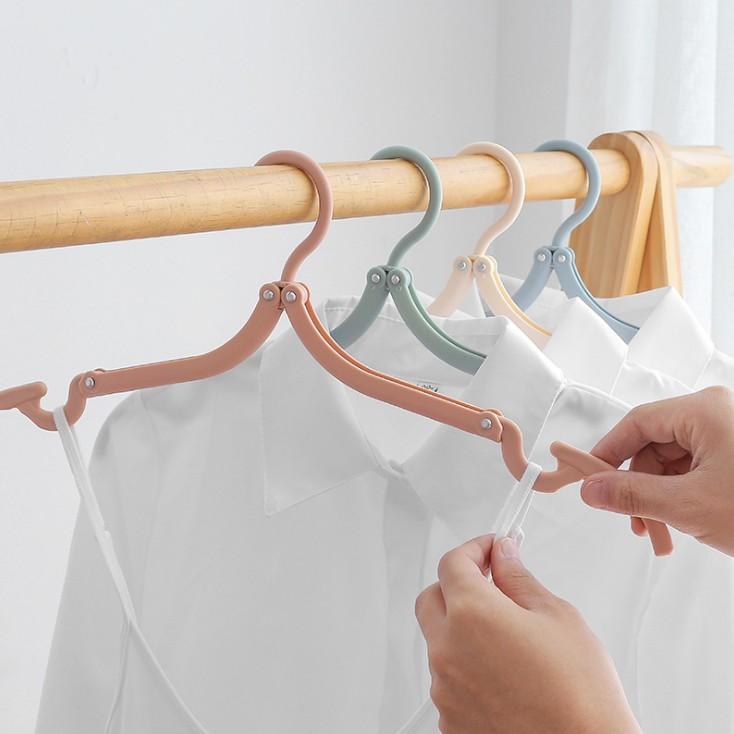 旅行必备便携可折叠防滑衣架多功能魔术伸缩晾衣服架家用挂衣撑子