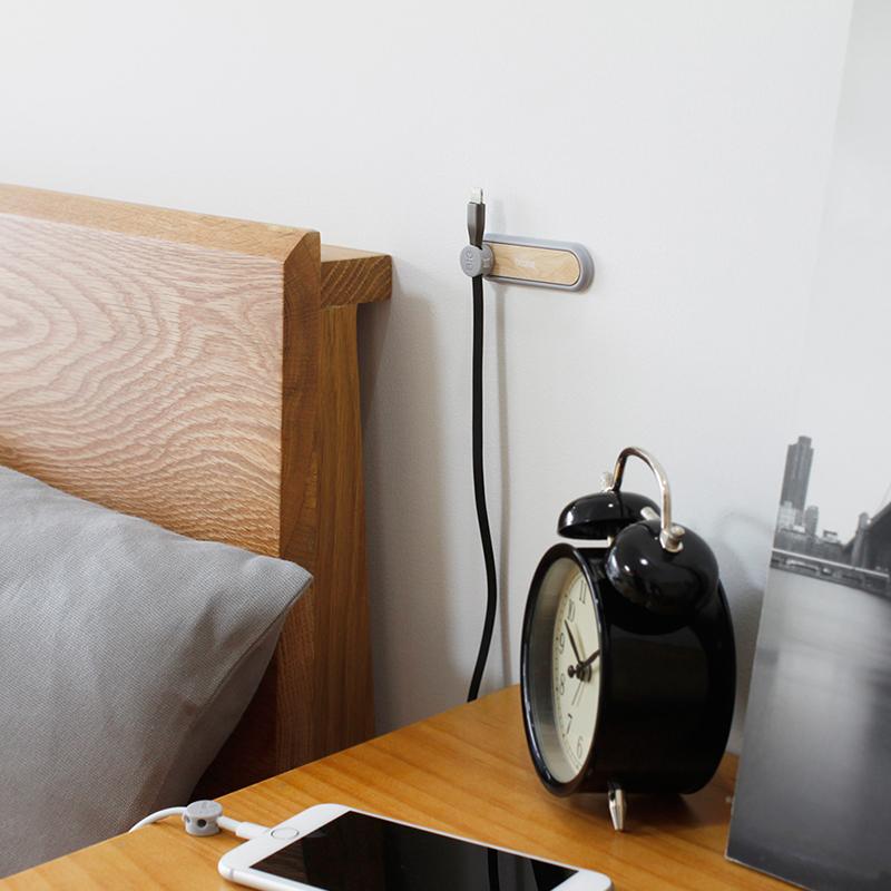 梵瀚 日式鼠标理线器数据线收纳充电线固定夹自粘办公桌面集线器