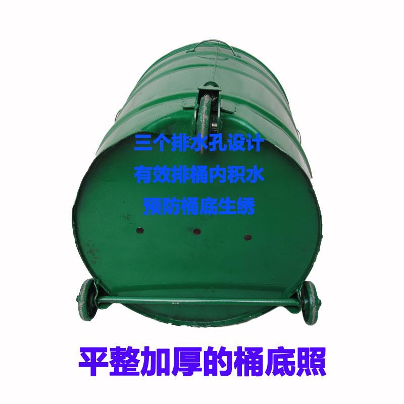 铁垃圾桶品质保证环卫专用挂车桶环保箱户外铁质圆大铁桶创意新品