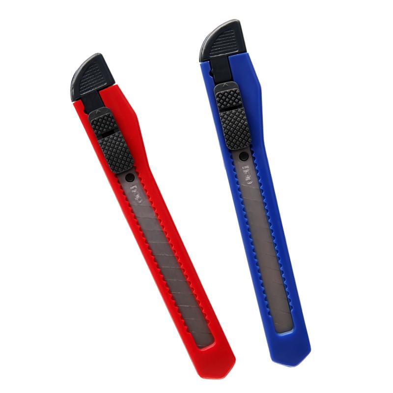 得力0.9/1.8mm小/大号美工壁纸刀裁纸刀片金属裁纸刀
