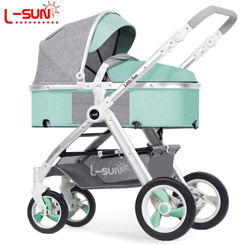 小太阳高景观婴儿推车可坐可躺双向便携宝宝手推车轻便折叠婴儿车