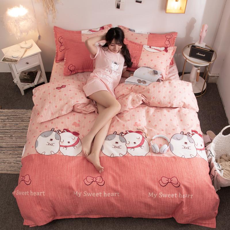 米 2.0 米 1.5 網紅款加厚四件套床單被套被單雙人多件套 正常發貨