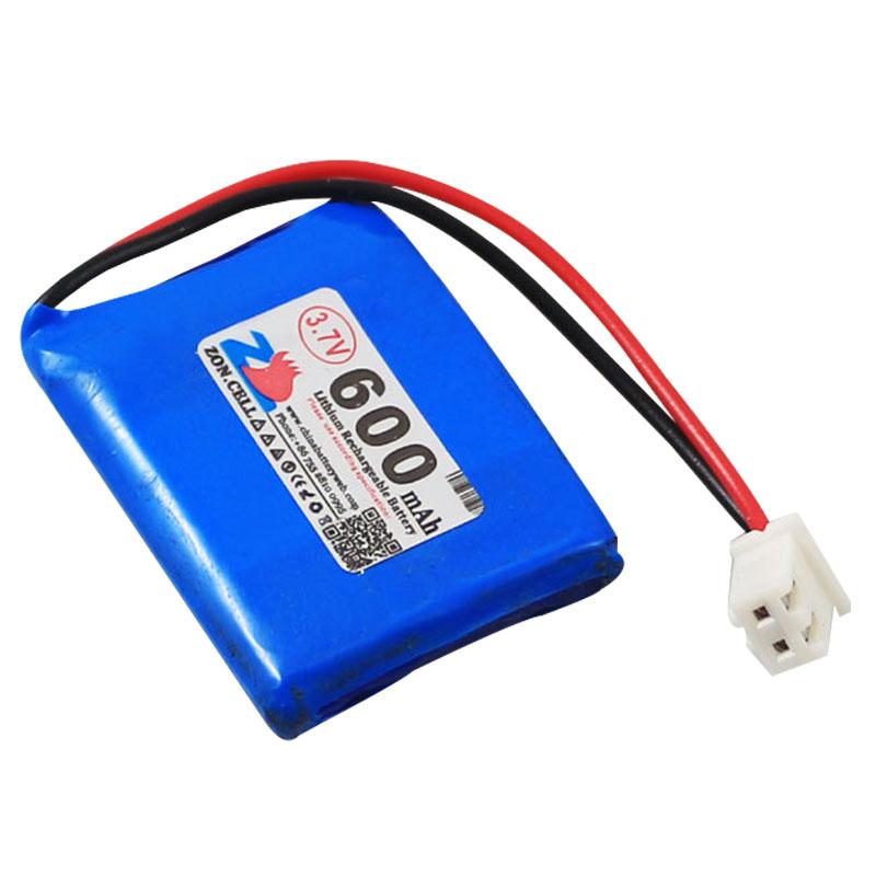中顺芯602535 552535蓝牙无线音箱学习机聚合物锂电池3.7V 600mAh