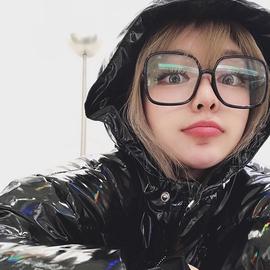 周扬青 2019新款显脸小素颜大方框网红眼镜