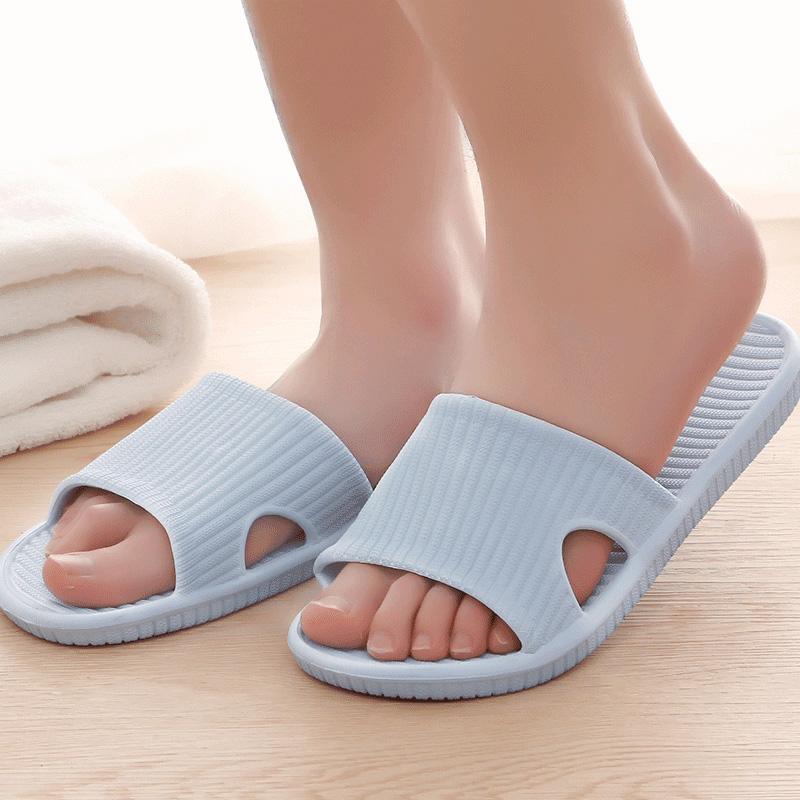 日本 糖果色情侣居家拖鞋夏季简约男女通用浴室防滑轻薄凉鞋