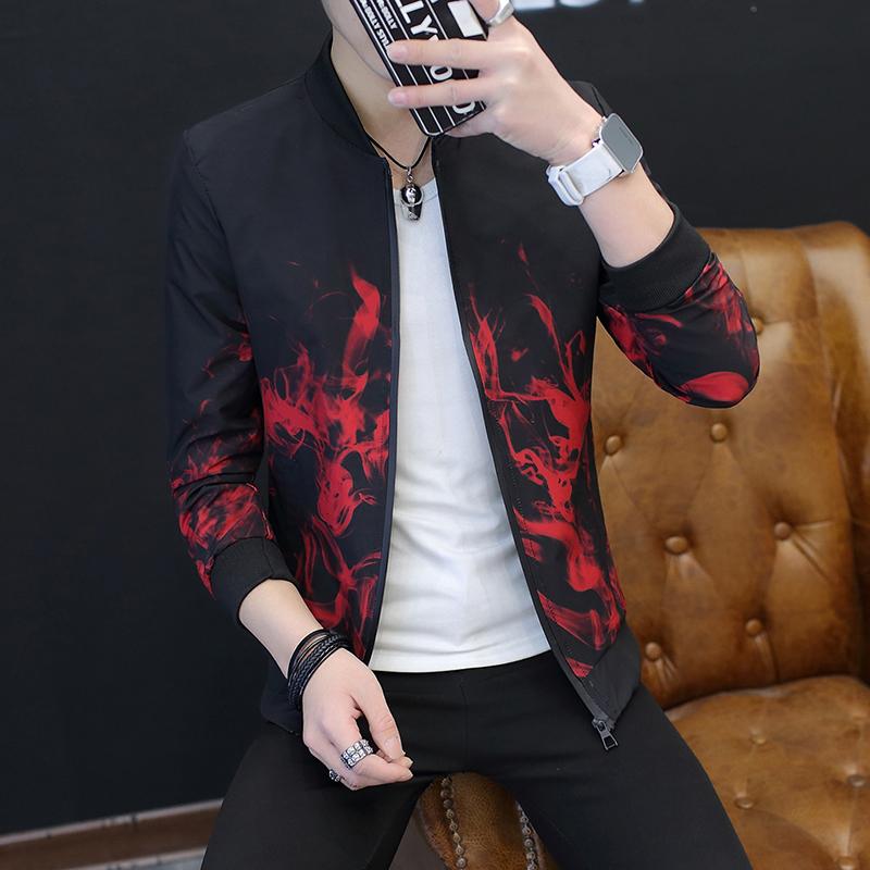 春夏季青年韩版潮流夹克薄外套男士外衣修身防晒衣男帅气褂子学生
