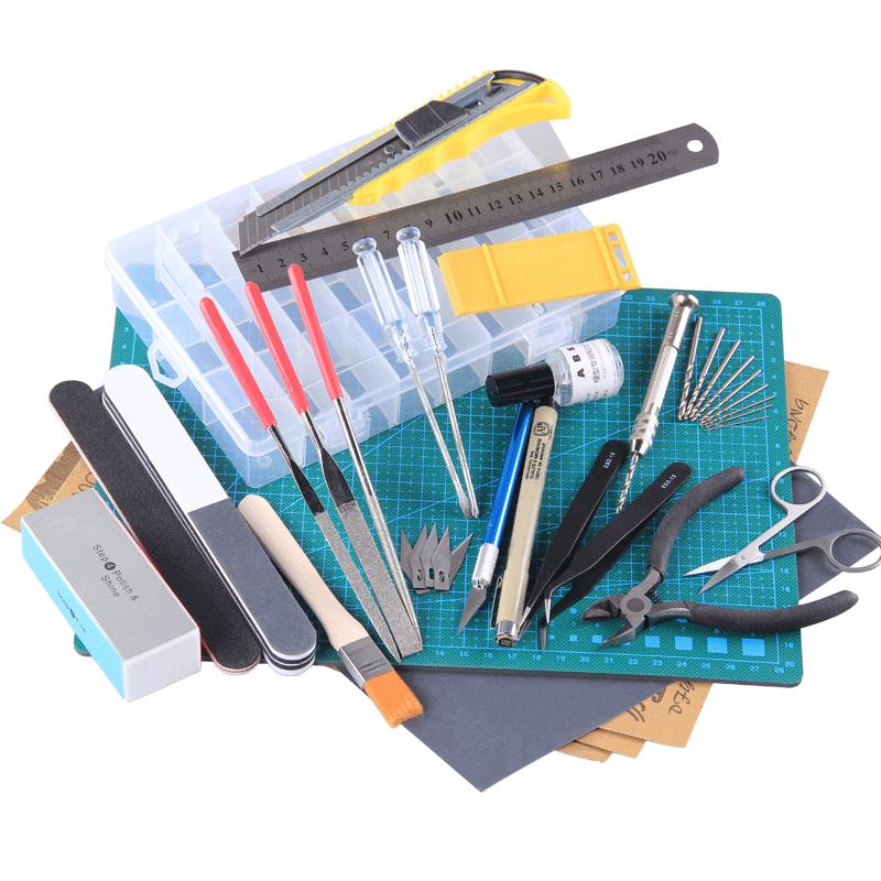 高达工具套装 模型制作拼装组装 军事素组手办剪钳镊子笔刀打磨条
