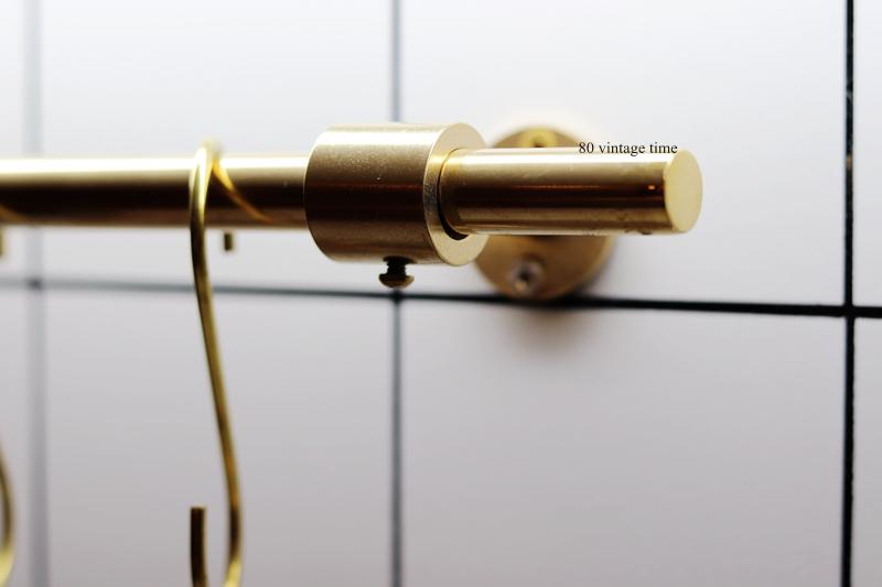 复古简约纯铜厨房工具挂杆墙壁空间收纳铜挂杆 time vintage 80