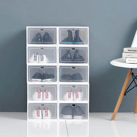 加厚鞋子收纳盒透明鞋盒鞋柜鞋箱鞋收纳抽屉式整理箱塑料简易鞋架