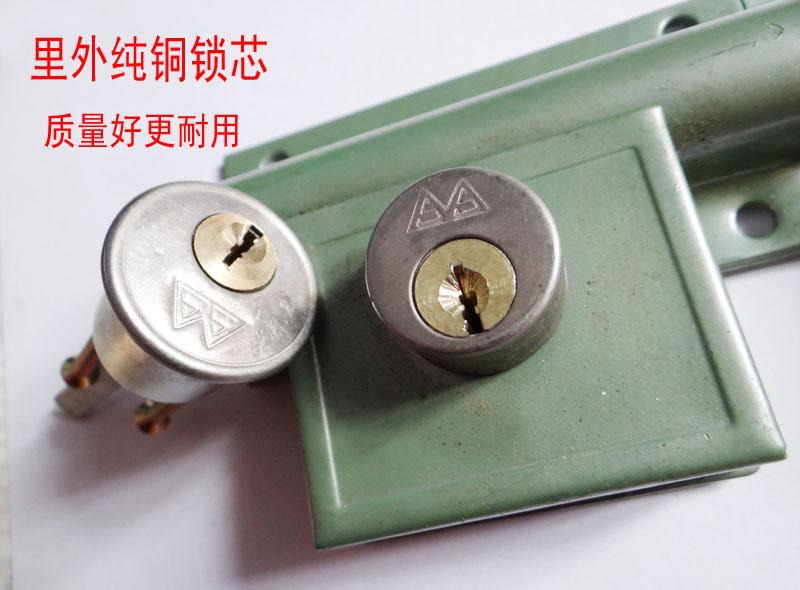 双山齿条锁双扇门锁大门锁木门锁穿条锁 铜芯分体式防盗门锁 包邮