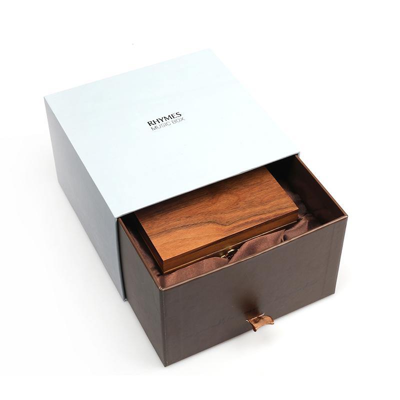 刻字 照片 圣诞七夕礼物送女生 胡桃木八音盒 雷曼士音乐盒 rhymes