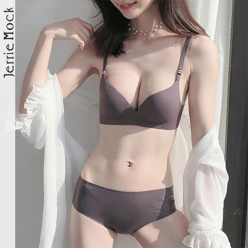 法国Jerrie Mock一片式无痕文胸无钢圈聚拢 小胸罩性感收副乳内衣 - 图1