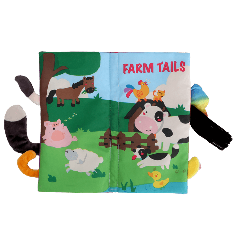 贝恩施宝宝尾巴布书早教婴儿书籍6-12个月0-3岁撕不烂可咬布玩具
