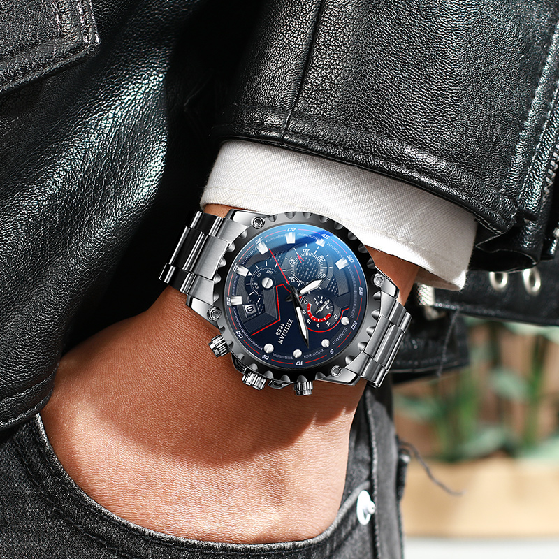 智典正品 新款男士全自动机械表防水运动时尚潮流精钢手表男表  2019