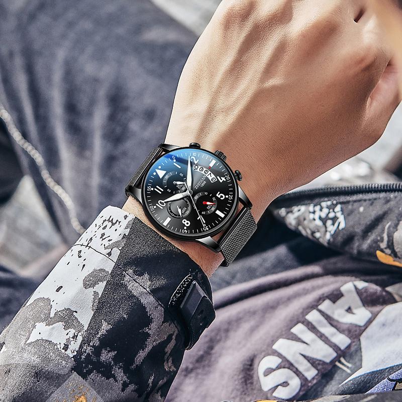 手表男士2019新款概念防水时尚学生潮流运动全自动机械表电子男表