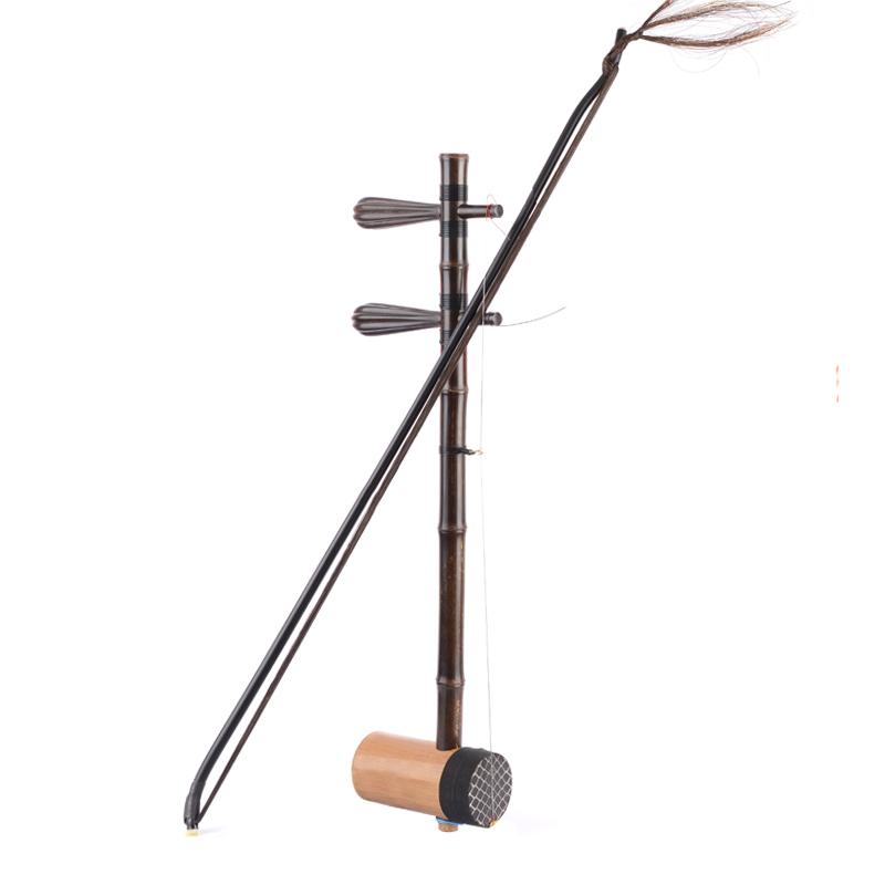 盛乐紫竹京胡枣木轴身乌鞘蛇皮专业演奏乐器西皮二黄担子全套配件