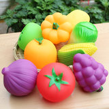 Kindergarten vegetable and fruit model children's color recognition early education toy pairing toy soft fruit and vegetable