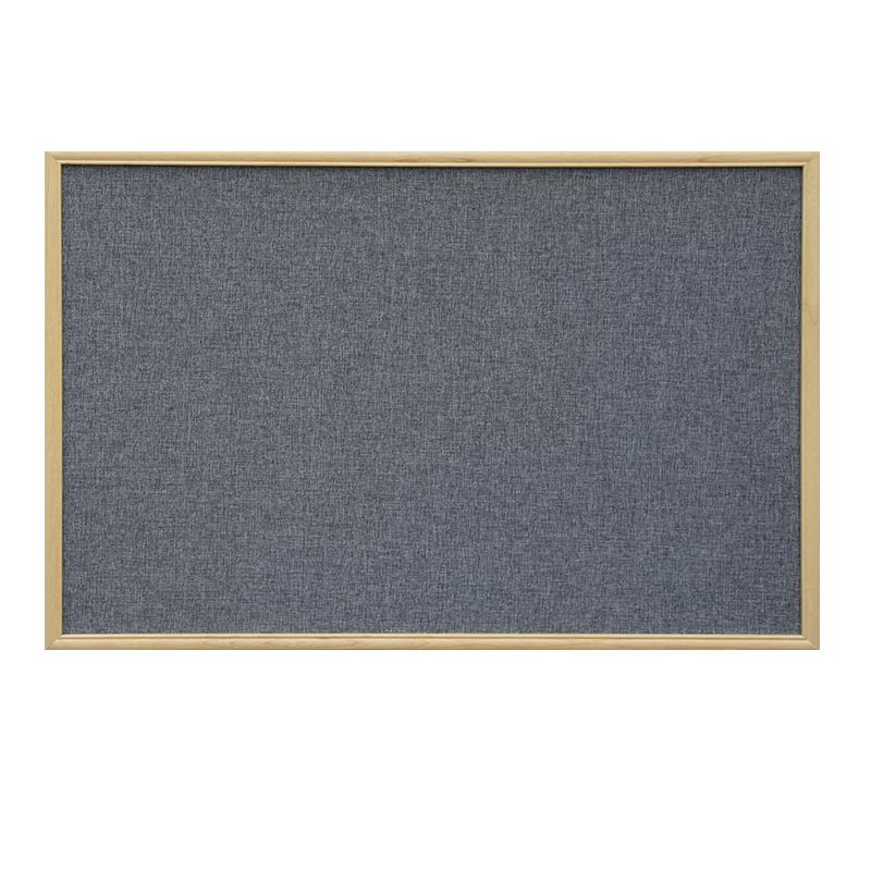大易实木边框可定制贴布软木板照片墙 装饰背景墙彩色毛毡留言板照片板 幼儿园主题墙绒布板麻布创意公告栏