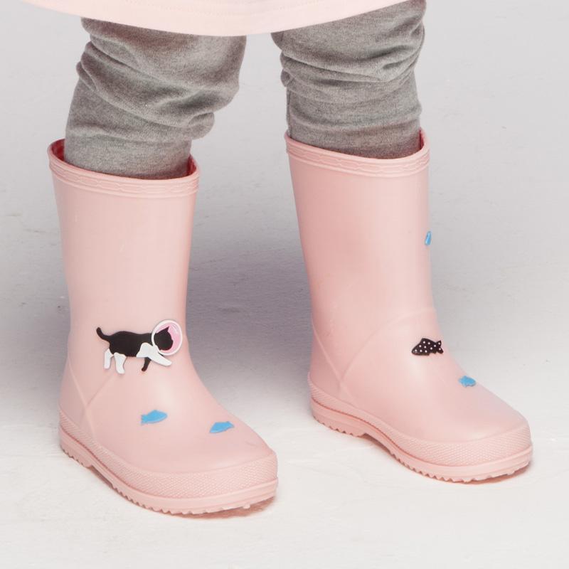 儿童雨鞋女童婴幼儿轻便小童防滑水鞋小孩男童学生中大童宝宝雨靴