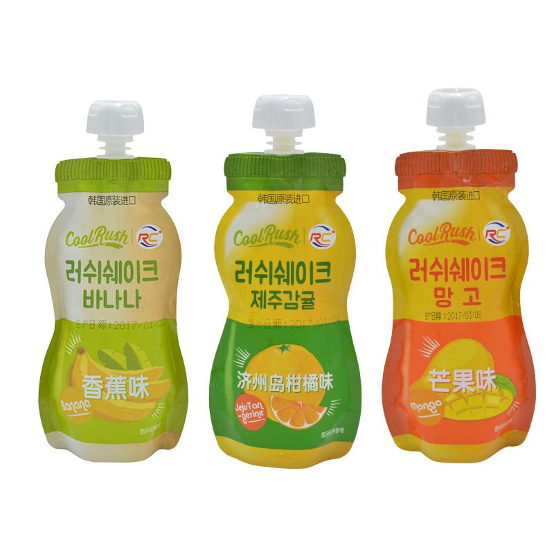酷瑞丝Cool Rush韩国进口吸吸冰10支组合装巧克力香蕉柑橘冰品