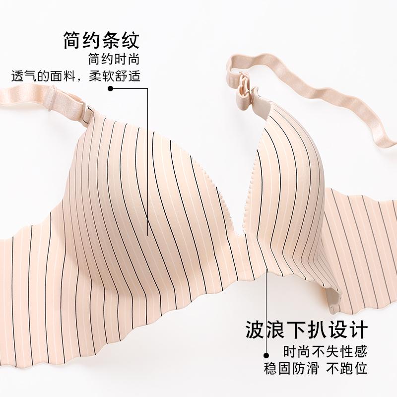 无钢圈胸罩内衣套装女文胸聚拢小胸性感防下垂上托收副乳加厚薄款