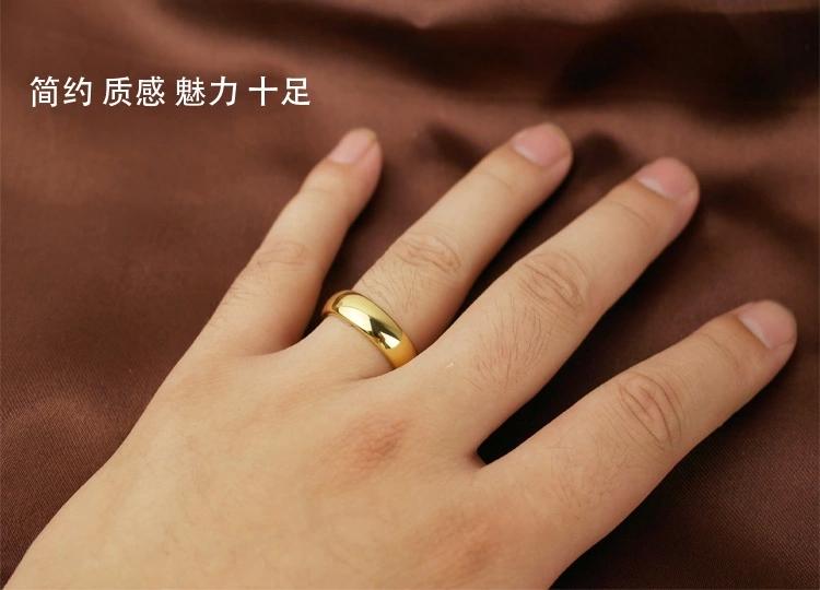 男女士情侣对戒 黄金戒指光面指环活口 24K 黄金首饰 新款特价 2015