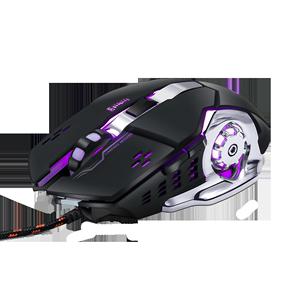 鼠标有线按键无声电竞游戏静音版网吧办公家用USB电脑笔记本通用