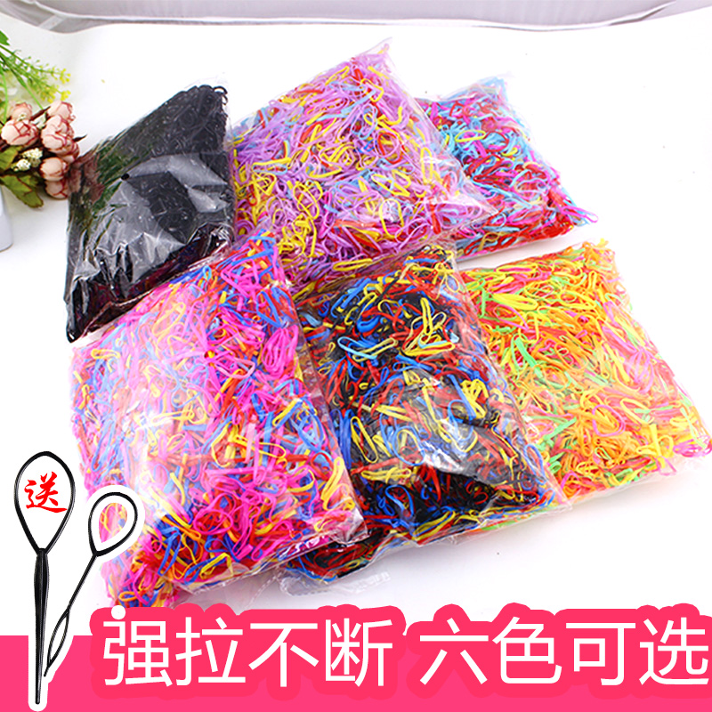 4千根装韩国儿童扎头发饰品一次性橡皮筋发绳头绳发圈发夹女发饰