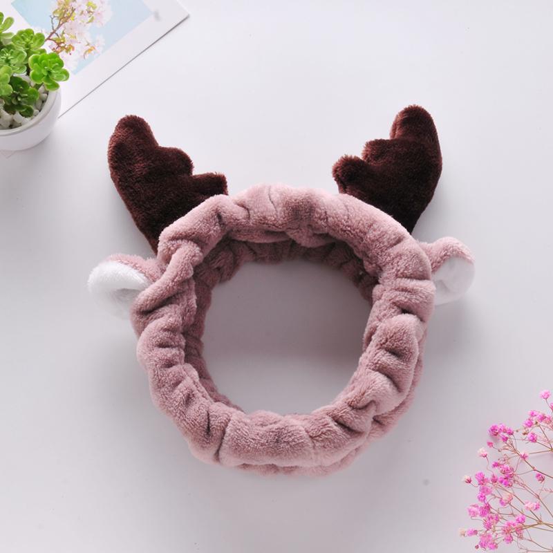 韩版时尚洗脸头带兔猫耳朵绒布发箍可爱头饰品甜美风化妆女束发带