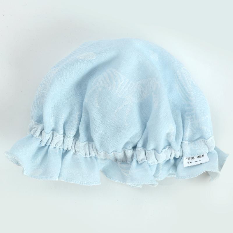 婴儿帽子夏季薄款遮阳初生新生婴儿帽新生儿夏0胎帽3月护卤门纱布