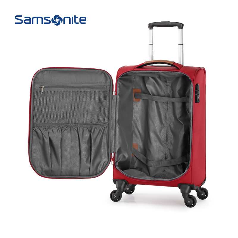 TD4 新秀丽商务拉杆箱轻盈软箱登机箱时尚差旅行李箱 Samsonite