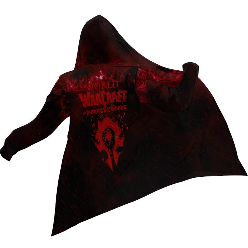 魔兽世界联盟部落风衣中长款外套加绒青少年游戏周边衣服 男  WOW