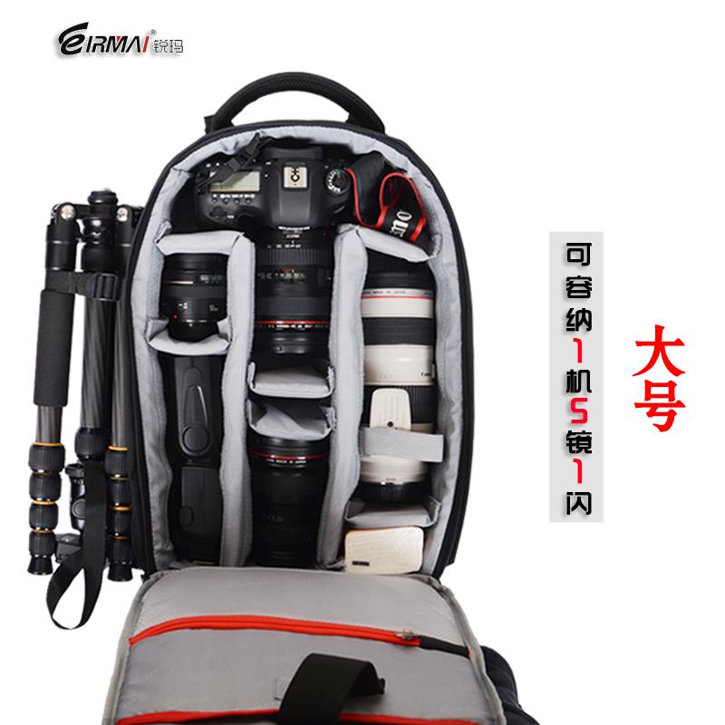 锐玛专业单反相机包摄影包双肩包男背包微单便携收纳袋d750配件m6适用佳能尼康索尼富士80d d7200 200d a6000