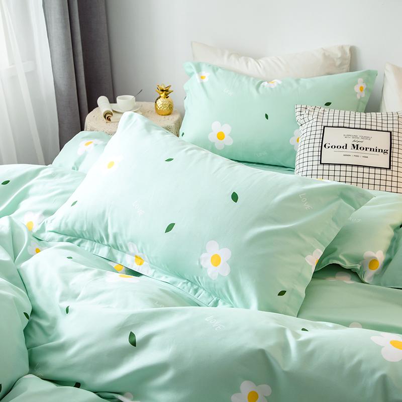 恬梦家纺四件套全棉纯棉100床笠 学生宿舍床单被套三件套床上用品