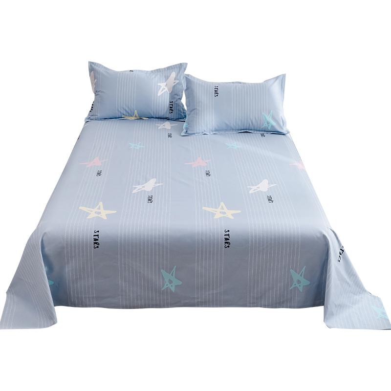 老粗布床单单件 纯棉单双人1.2m1.5/1.8米床学生宿舍加厚被单全棉