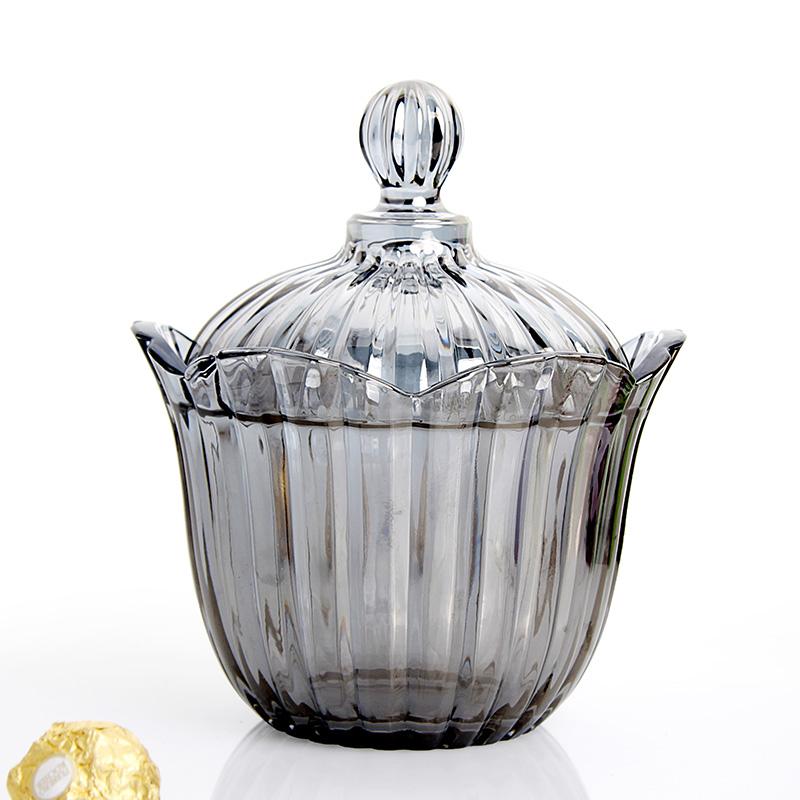 无铅玻璃糖罐 创意糖罐 储物罐 个性收纳盒厨房糖罐时尚礼品