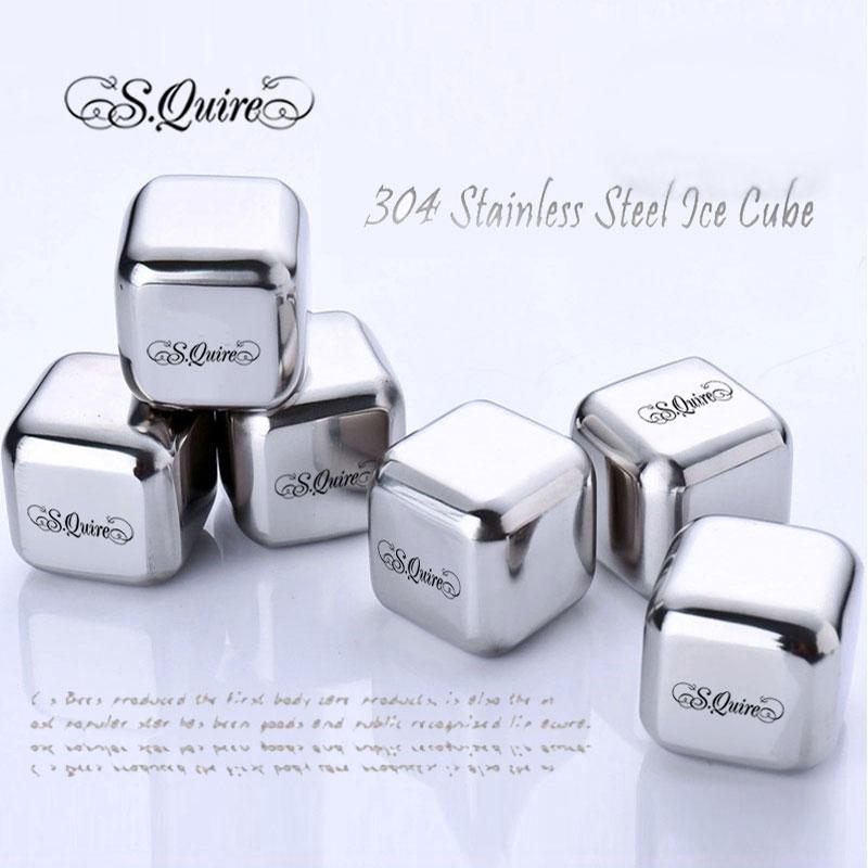 圣乔伊冰酒石304不锈钢冰块速冻金属冰粒威士忌酒吧酒具创意礼盒