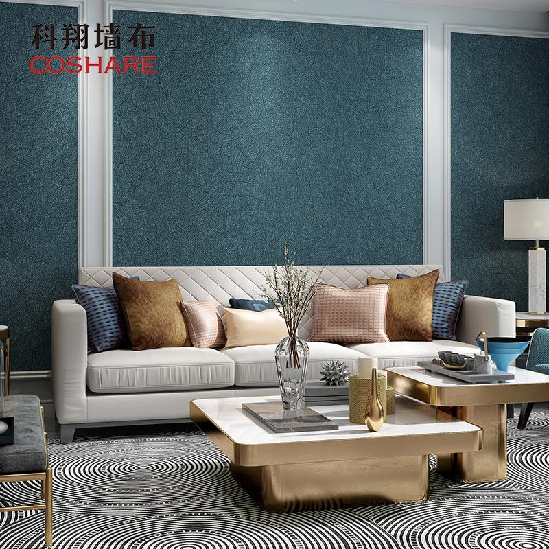 丝韵 无缝卧室客厅壁布多色 现代简约客厅墙布 轻奢蚕丝墙布 科翔