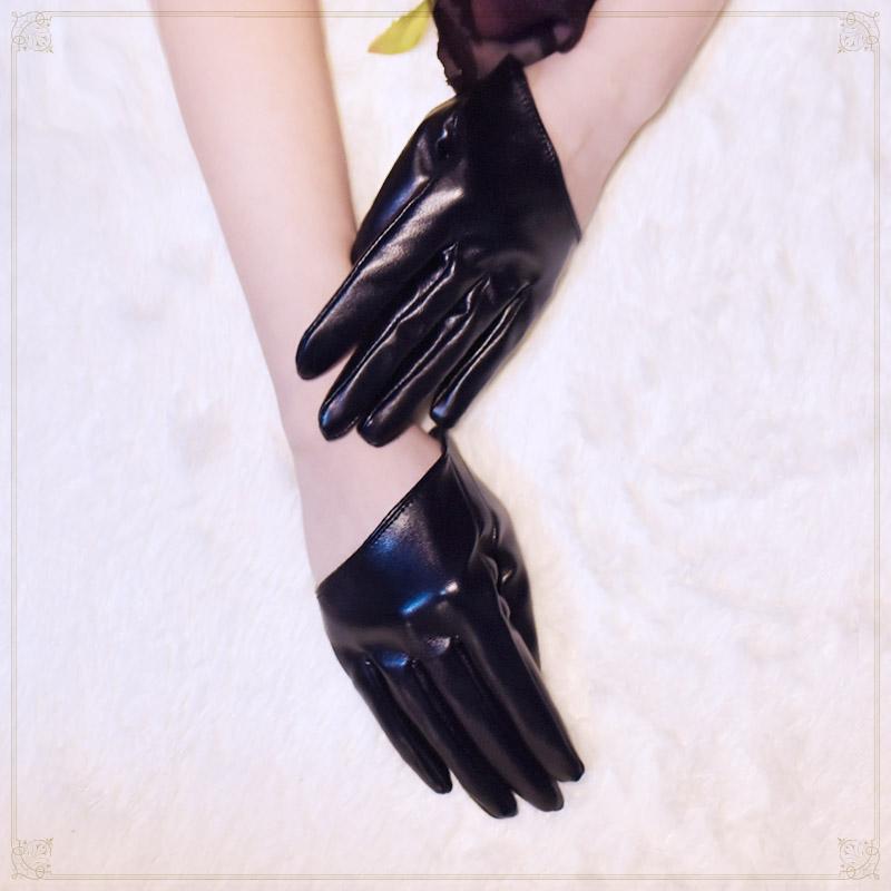 原宿暗黑系lolita酷少女半截手套半掌朋克哥特短款lo拍照
