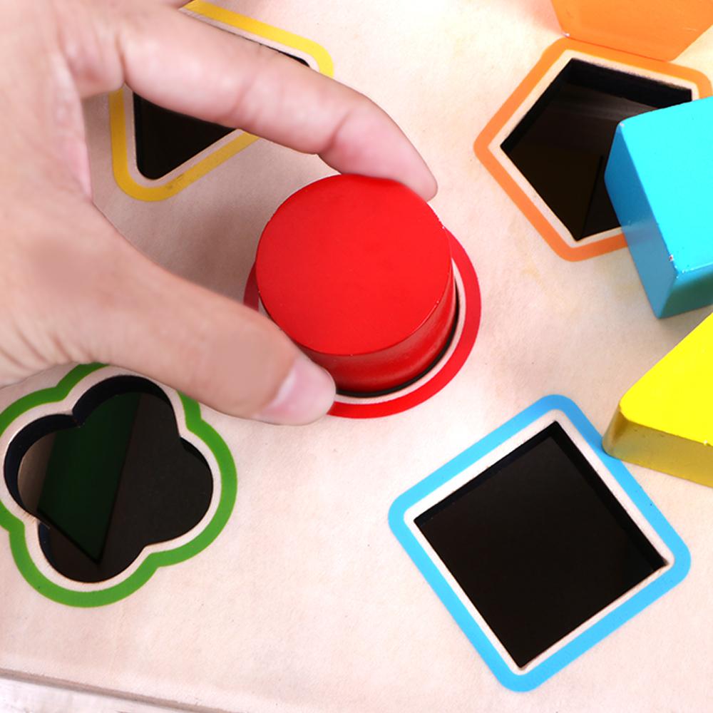一岁半男宝宝形状配对积木开锁玩具1-2-3岁儿童蒙氏早教益智玩具