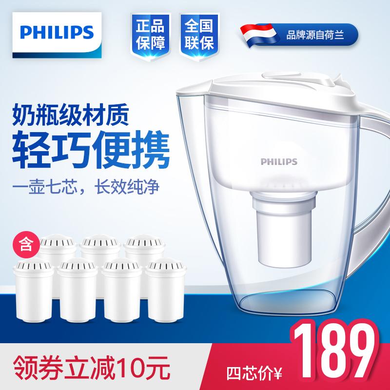 飛利浦淨水壺家用行動式水壺直飲淨水器自來水過濾壺過濾器WP2806