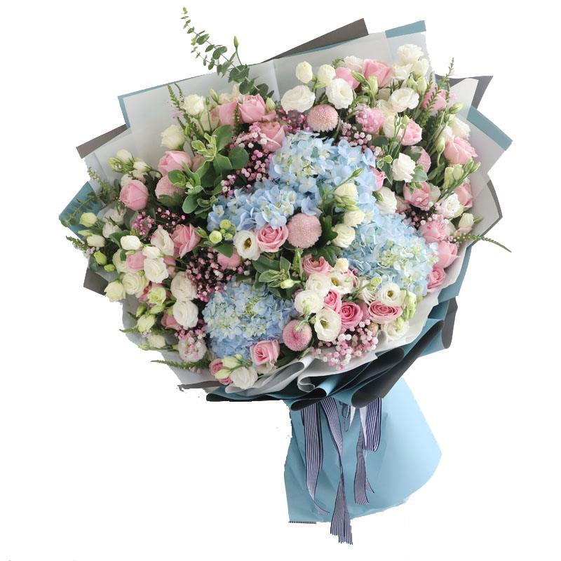 ins网红玫瑰超大花束北京天津同城速递送闺蜜生日表白繁花阁鲜花