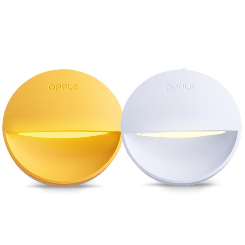 欧普led小夜灯光控感应插电节能床头灯卧室创意梦幻婴儿喂奶台灯