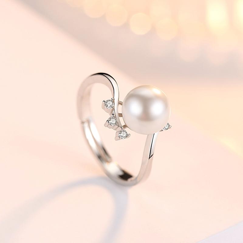 韩版 银开口戒指关节戒子 s925 伊洛传芳 天使之吻简约心形戒指